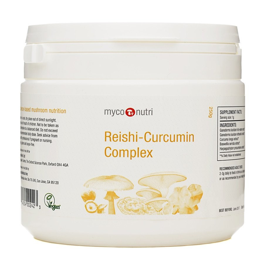 MycoNutri Reishi-Curcumin 250grms Powder