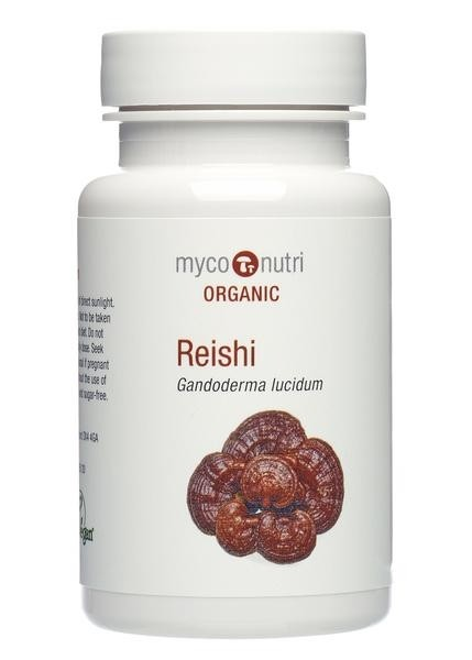Organic MycoNutri Red Reishi dual-extract - 60 veg caps